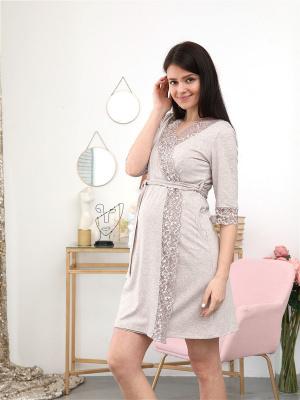 Комплект 210 для беременных и кормящих халат и сорочка в роддом