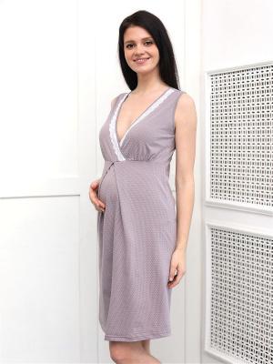 Комплект 216 для беременных и кормящих халат и сорочка в роддом