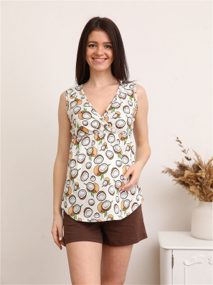 Пижама 163 для беременных и кормящих