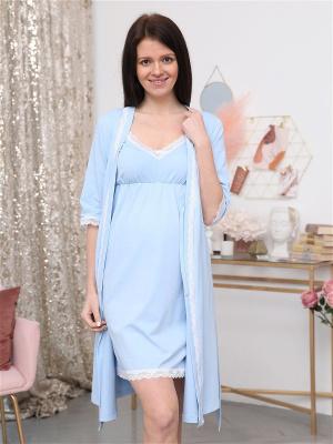 Комплект 41 для беременных и кормящих халат и сорочка в роддом