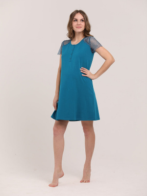 Сорочка женская для беременных и кормящих 1-НМП 16402